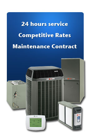 24 hours service, competitive rates, maintenance contract